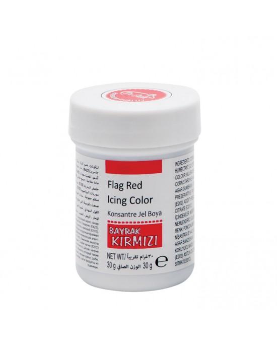 Dr. Gusto Bayrak Kırmızı Gıda Boyası Jel 30 Gr