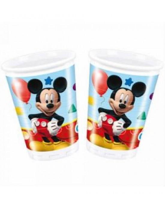 Mickey Mouse Plastik Bardak 8 Adet