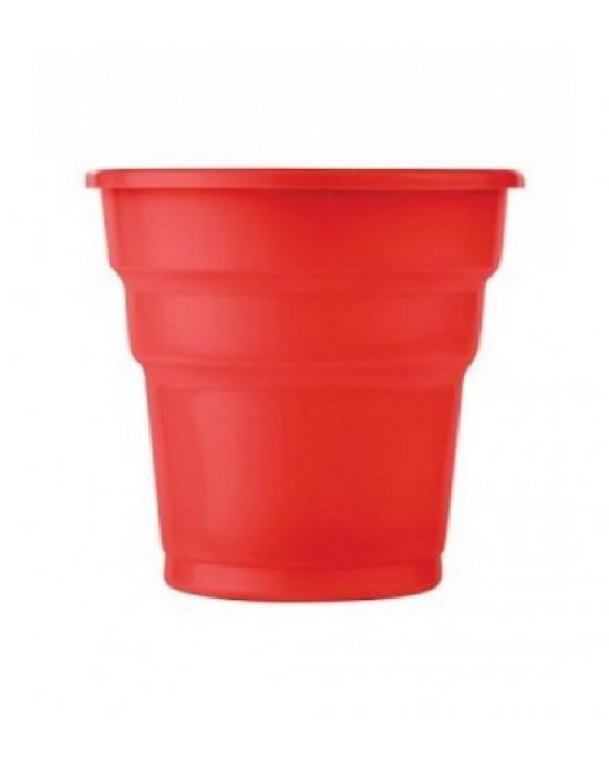 Plastik Bardak Kımızı 25 Adet
