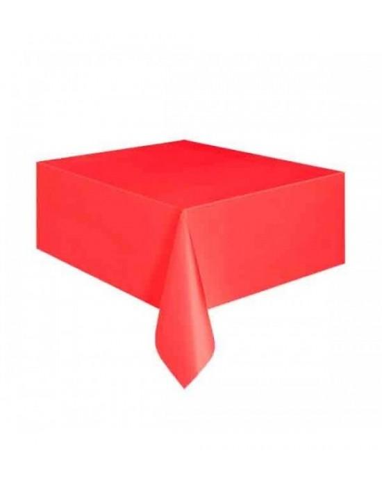 Masa Örtüsü Plastik Kırmızı 1.20x1.80 Cm