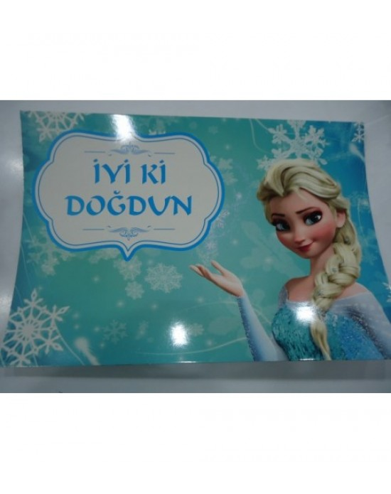 Karton Yazı Tek Taraflı Frozen