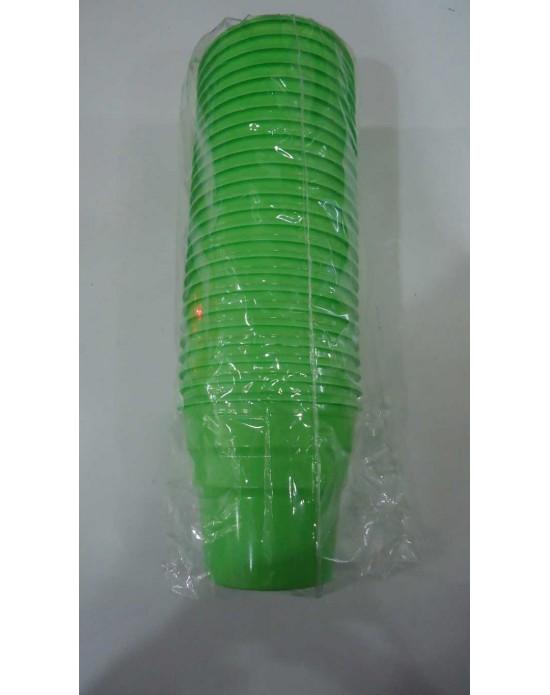 Plastik Bardak Yeşil (25 Adet)