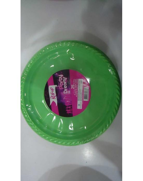Plastik Tabak Yeşil (25 Adet)