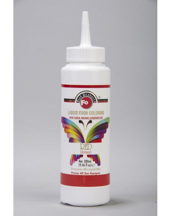 Fo Kırmızı Sıvı Gıda Renklendiricisi 280 ml