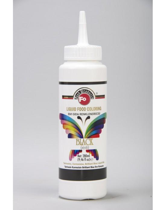 Fo Siyah Sıvı Gıda Renklendiricisi 280 ml