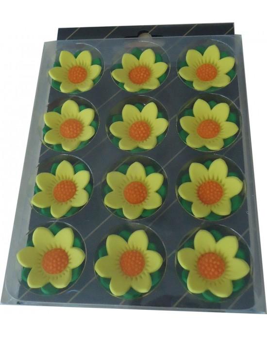 Çiçekdekor Şeker Yıldız - Sarı 12 Adet