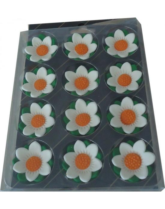 Çiçekdekor Şeker Yıldız - Beyaz 12 Adet