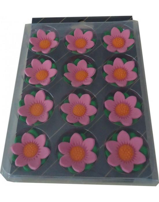 Çiçekdekor Şeker Yıldız - Pembe 12 Adet