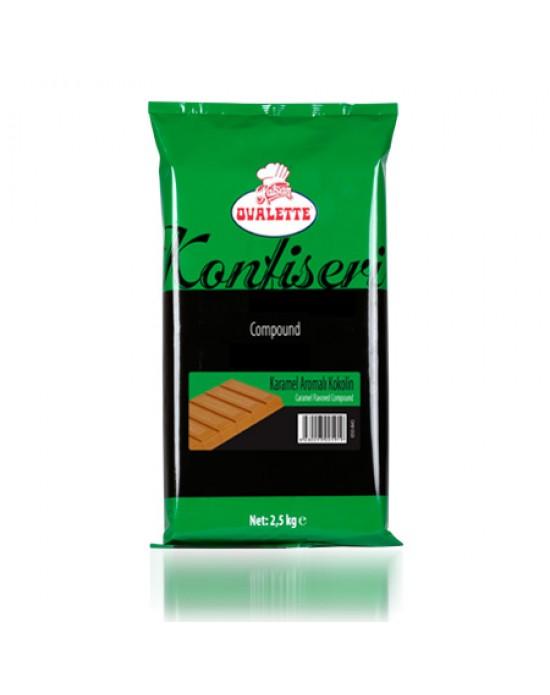Ovalette Karamel Aromalı Konfiseri Kokolin 2,5 Kg.