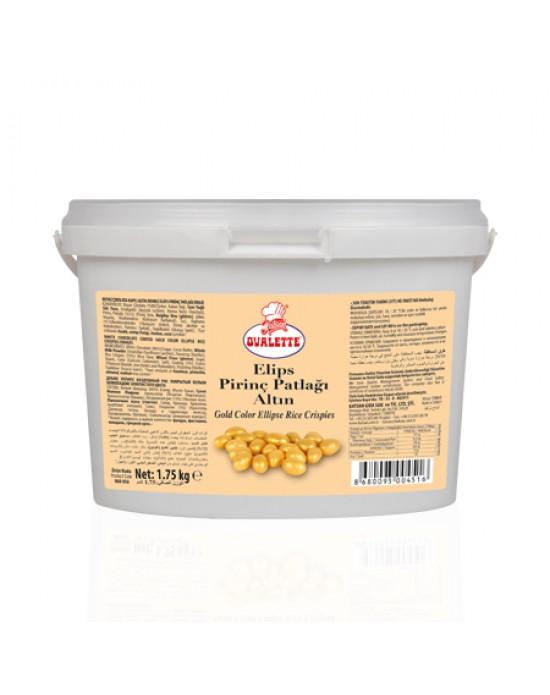 Ovalette Altın Renk.Elips Pirinç Patlağı 1,75 Kg.