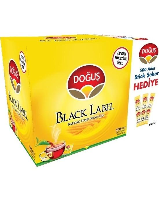 Doğuş Black Label Bardak Poşet 500x2 Gr. (500 Ad.x3 Gr. Stick Şeker Hediye)
