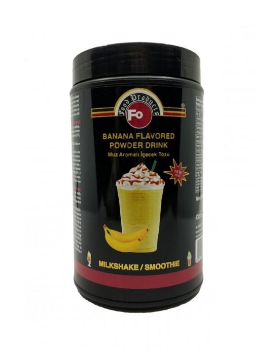 Fo Muz Aromalı İçecek Tozu 1 Kg. (Milk Shake/Smothie) Kavanoz