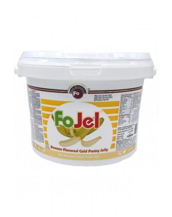Fo Muz Aromalı Soğuk Pasta Jeli (5 Kg)