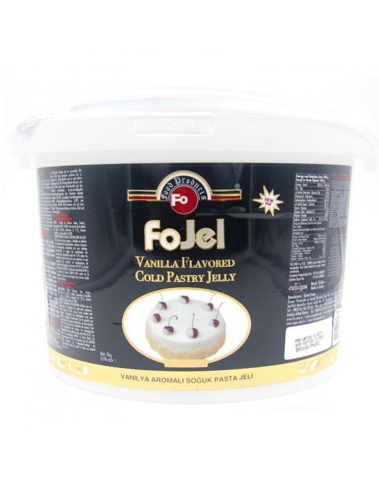 Fo Vanilya Aromalı (Beyaz) Soğuk Pasta Jeli 5 Kg.