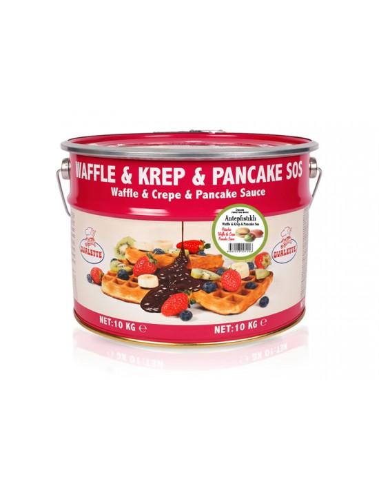 Ovalette Antep Fıstıklı Waffle Krep Sos 10 Kg.