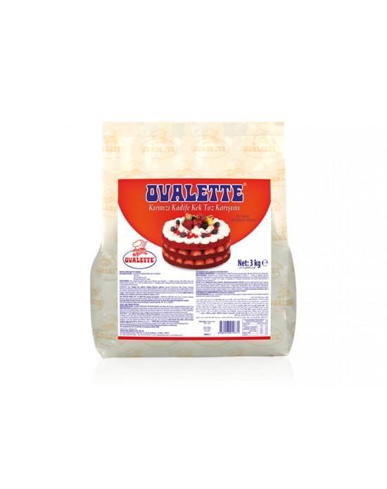 Katsan Ovalette Kırmızı Kadife Kek Toz Karışımı 3 Kg.