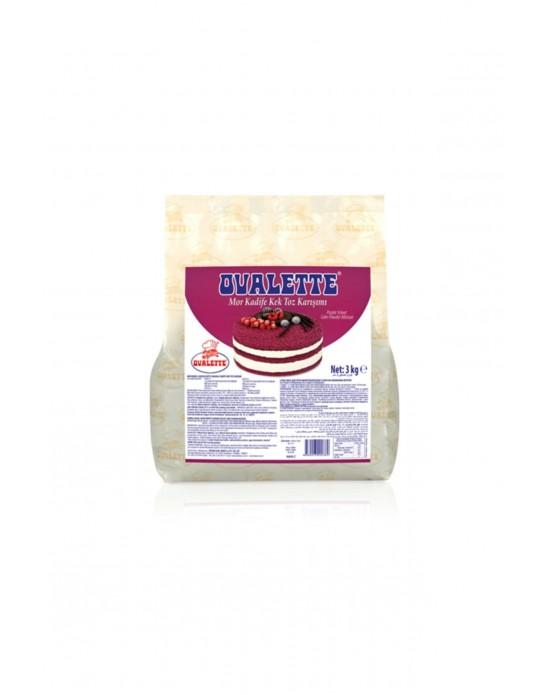 Katsan Ovalette Mor Kadife Kek Toz Karışımı 3 Kg