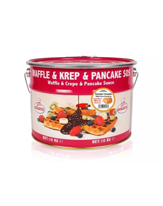 Ovalette Karamel Waffle Krep Sos 10 Kg.