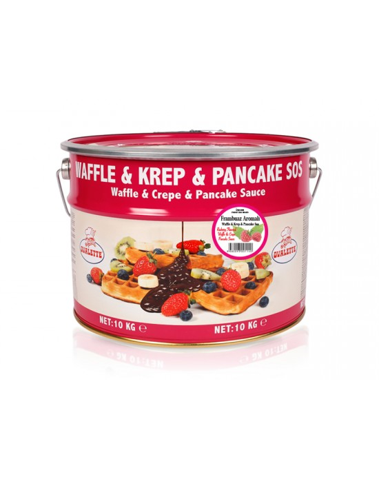 Ovalette Frambuaz Waffle Krep Sos 10 Kg.