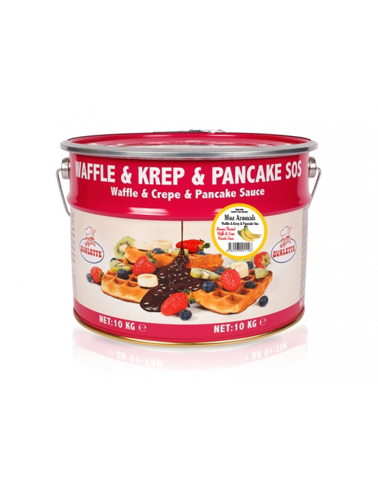 Ovalette Muz Waffle Krep Sos 10 Kg.