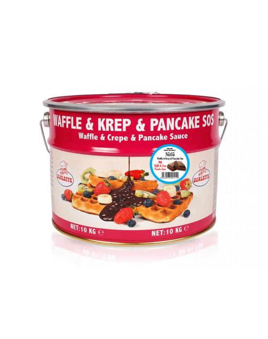 Ovalette Sütlü Waffle Krep Sos 10 Kg.