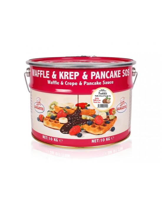 Ovalette Fındıklı Waffle Krep Sos 10 Kg.